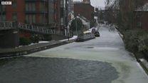 Birmingham's canal freeze