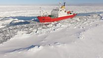 Berg mission thwarted by thick ice