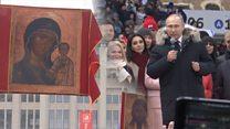 """""""Меня сюда пригнали как барана"""": кто и зачем пришел поддержать Путина?"""