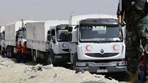 Aid enters Eastern Ghouta despite air strikes