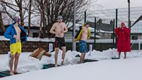 Swimming in the snow