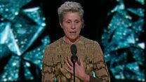 Frances McDormand asks all female nominees to stand