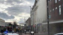 Fire at bookshop