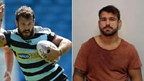 High-speed chase rugby player jailed