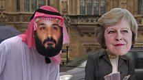 A Londres, haro sur la visite à Londres du prince héritier d'Arabie Saoudite