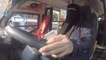 First female minibus driver in Cairo