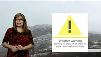 Weather warning as snow returns to Wales
