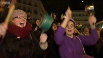 İspanya'da kadınlar ülke çapında grev başlattı