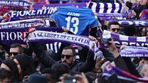 Italian football fans sing their captain's farwell