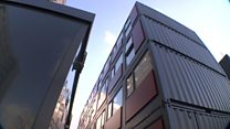 The London families living in shipping containers