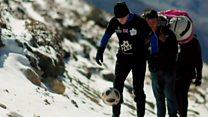 Climbing Everest doing 'keepy uppies'