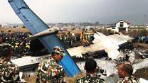 Nepal'in başkenti Katmandu'da 70'ten fazla kişiyi taşıyan uçak düştü