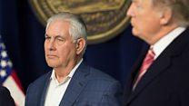 A series of Trump v Tillerson bust-ups