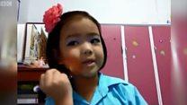泰国10岁女孩成伦敦时装周化妆师