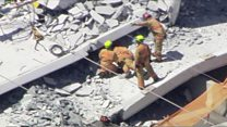 'People trapped' after US bridge collapses