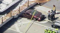 مقتل عشرات في انيار جسر في الولايات المتحدة