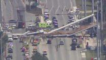 Мост построили всего за 6 часов - и он рухнул на автотрассу