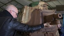 Replica WW1 tank built in shed