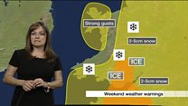 How will snow and ice warning affect you?