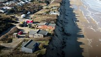 Cliff-top homes left uninhabitable