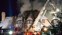 Thatched hotel wrecked by blaze
