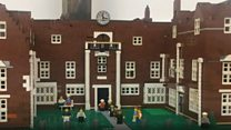 Lego used to recreate town centre