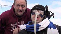 Hospice patients meet football heroes