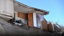 Cliff-top homes start to collapse