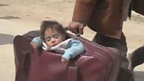 पाहा व्हीडिओ: सीरियातून हजारो लोकांचे पलायन