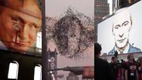 Портрет Путина на британском МИДе и еще три подозрительных видео
