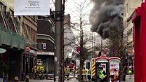 Fire in Glasgow city centre