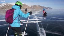 Skating on the world's deepest lake
