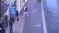 Throat cut attack captured on CCTV