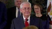 Tillerson exits 'mean-spirited' Washington