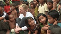 Blanchett meets refugees in Bangladesh