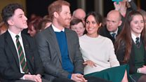 Cheers as Harry and Meghan visit Northern Ireland