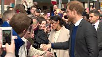 Prince Harry and Meghan Markle in Belfast