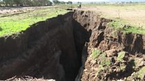 Huge crack opens in Rift Valley
