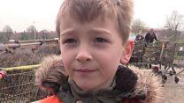 Boy, seven, in litter-picking crusade