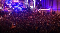 Catalan protesters clash with police