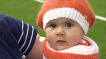 Baby 'cuter' than other Luton Town fans