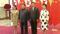 N Korea's Kim Jong-un visits China's Xi
