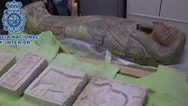 Artefacts looted from IS areas seized