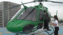 ब्राज़ील में हेलिकॉप्टर कैब