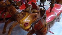 Hand-turned Victorian carousel for sale