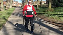 Paralysed man to walk London Marathon