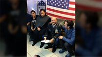 Moment a deported US veteran's luck changed