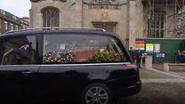 Stephen Hawking's funeral begins