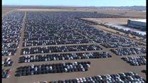 フォルクスワーゲン車の「墓場」、米カリフォルニア州に