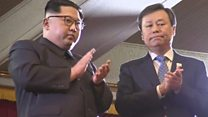 كيم جونغ أون يحضر حفلا لنجوم البوب في شبه الجزيرة الكورية
